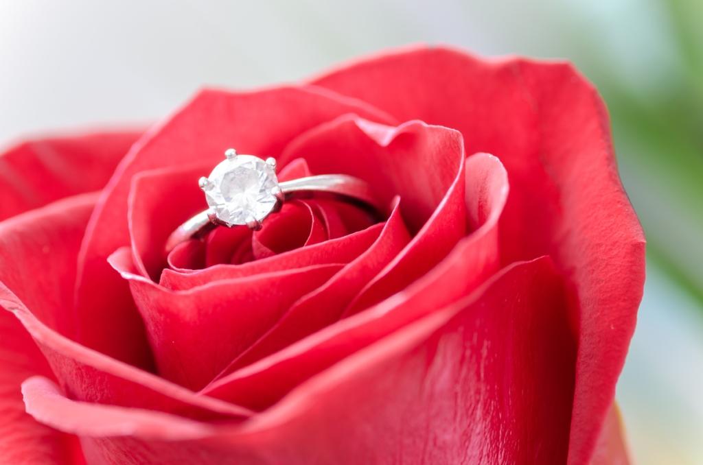プラチナ,指輪,ダイヤモンド,バラ