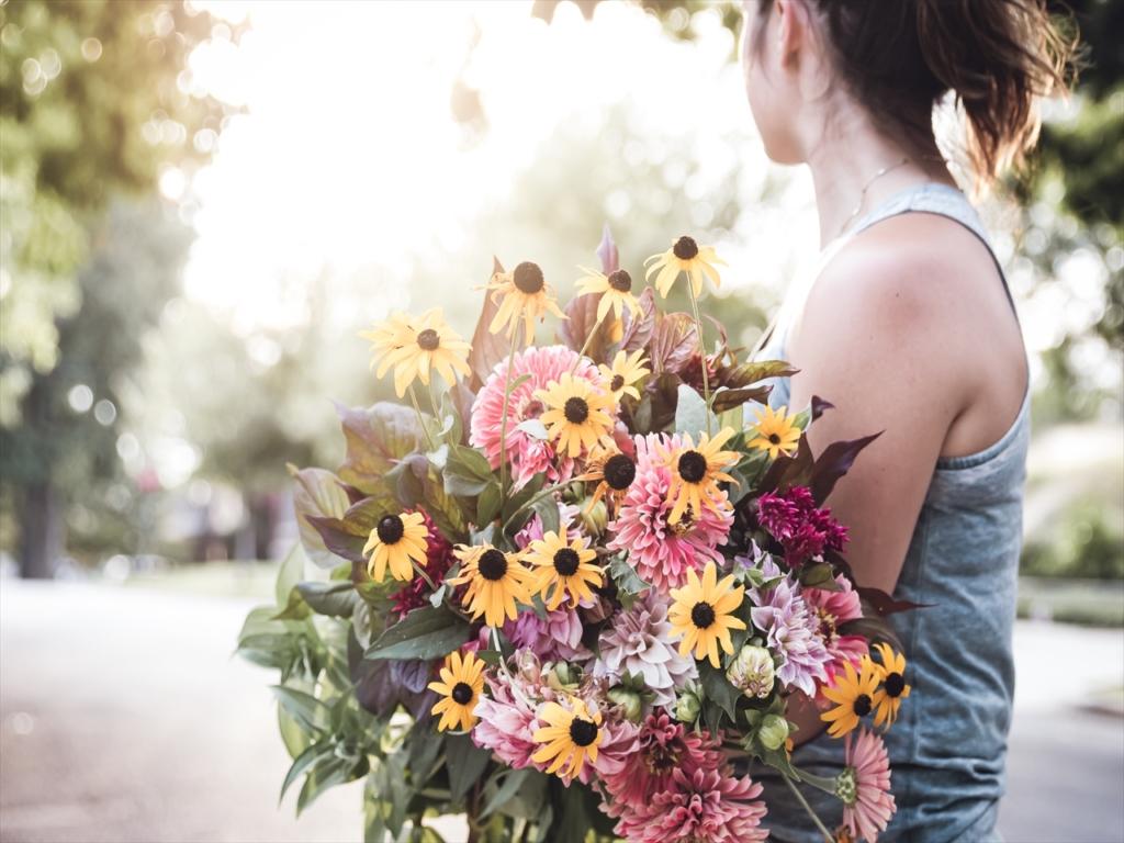 女性,花,きれい