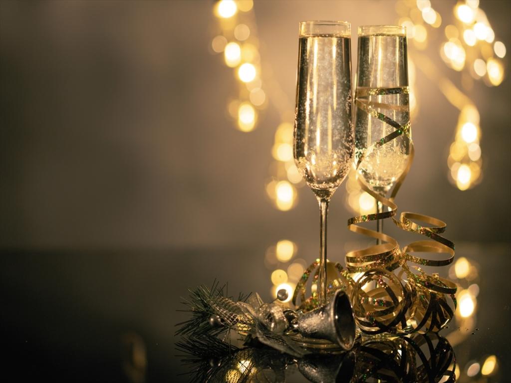ゴールド,シャンパン