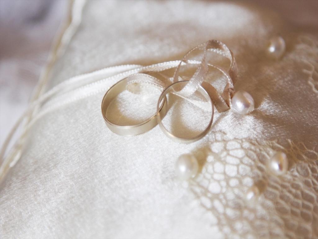 結婚指輪,リングピロー