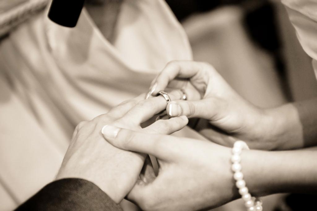 結婚指輪,指輪交換